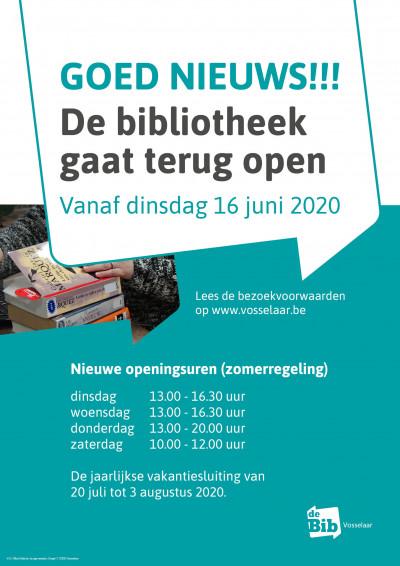 De bibliotheek is terug open!